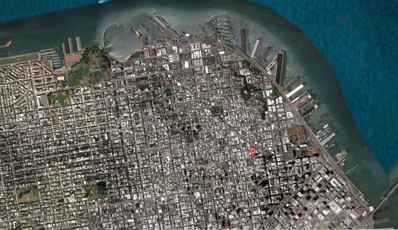 San Francisco Muholdas Terkep Terkep San Francisco Muholdas