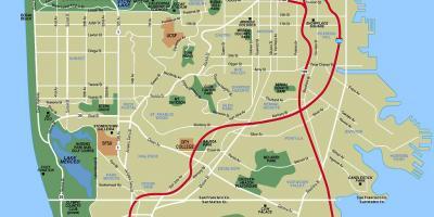 San Francisco Sf Szilicium Volgy Map A Terkepeket San